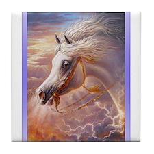 Arabian Horses in Dreamland Tile Coaster