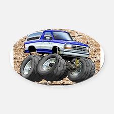 95_Blue_W_Bronco Oval Car Magnet