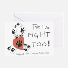 Pets Fight Too Greeting Card