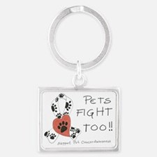 Pets Fight Too Landscape Keychain