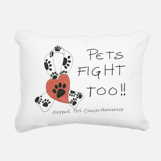 Pets Fight Too Rectangular Canvas Pillow