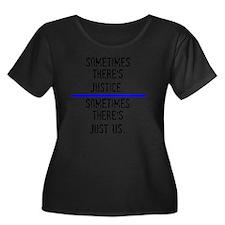 Justice Women's Plus Size Dark Scoop Neck T-Shirt