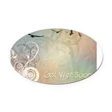 Get Well Soon Oval Car Magnet