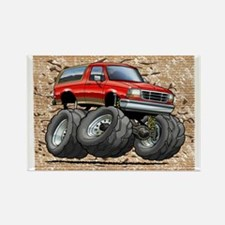 95_Red_EB_Bronco Rectangle Magnet