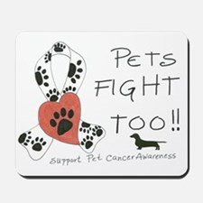 Pets Fight Too (Dachshund) Mousepad