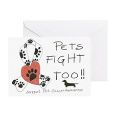 Pets Fight Too (Dachshund) Greeting Card