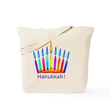 NEON Hanukkah Menorah Bedding Tote Bag