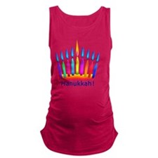 NEON Hanukkah Menorah Bedding Maternity Tank Top