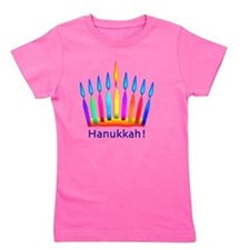 NEON Hanukkah Menorah Bedding Girl's Tee