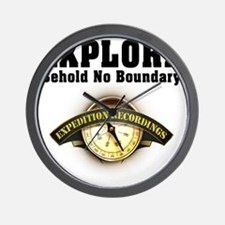Expedition - Motto Wall Clock