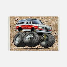 95_White_R_Bronco Rectangle Magnet