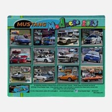 2013 Mustang MADNESS Wall Calendar Throw Blanket