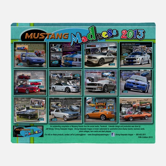 2013 Mustang MADNESS Wall Calendar Throw Blanket