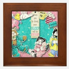 The Cats Pajamas Framed Tile