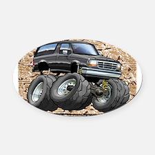 95_Black_Bronco Oval Car Magnet
