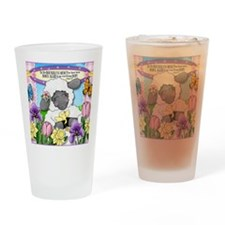 Cuddly Sweet Sheep Drinking Glass