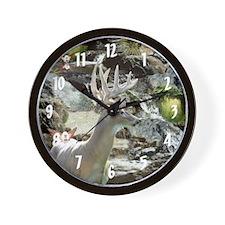 Waterfalls Buck & Fairies Wall Clock