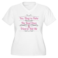 Breast Cancer YesTheyAreFake T-Shirt