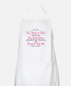 Breast Cancer YesTheyAreFake Apron