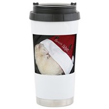 Santas Fuzzy Helper Travel Mug