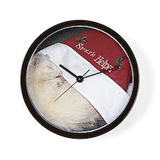Santas Fuzzy Helper Wall Clock