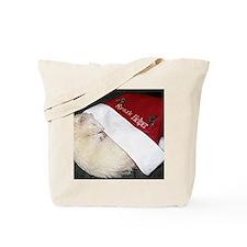 Santas Fuzzy Helper Tote Bag