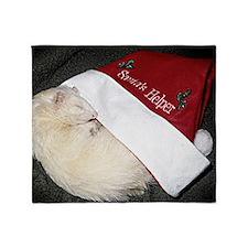 Santas Fuzzy Helper Throw Blanket