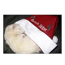 Santas Fuzzy Helper Postcards (Package of 8)