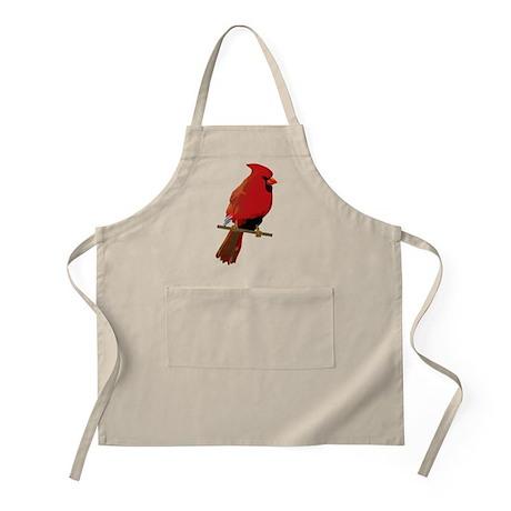 Male Cardinal BBQ Apron