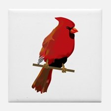 Male Cardinal Tile Coaster
