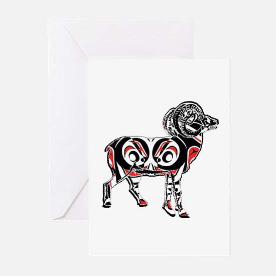 NORTHWESTERN RAM Greeting Cards