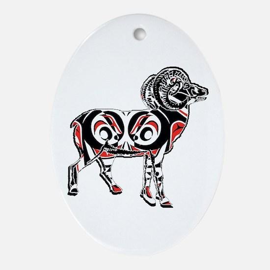 NORTHWESTERN RAM Oval Ornament