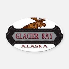 Glacier Bay Fleur de Moose Oval Car Magnet
