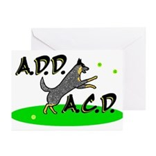 add acd blue Greeting Cards (Pk of 10)