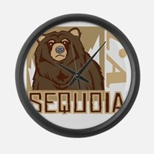 Sequoia Grumpy Grizzly Large Wall Clock