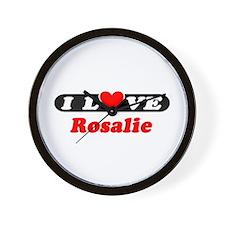 I Love Rosalie Wall Clock