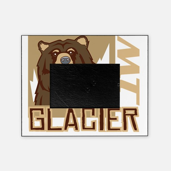 Glacier Grumpy Grizzly Picture Frame