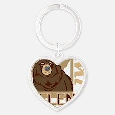 Helena Grumpy Grizzly Heart Keychain