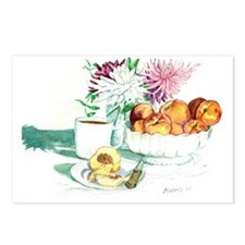 Still Life - Peaches - Sm Postcards (Package of 8)
