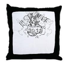 blackwhite winning logo 2012 Throw Pillow
