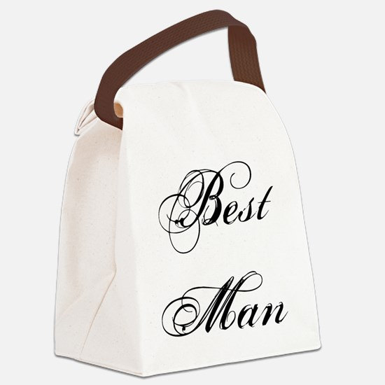 Best Man Canvas Lunch Bag