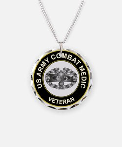 US ARMY COMBAT MEDIC Necklace Circle Charm
