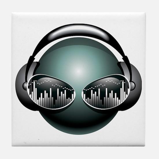DJ Head Tile Coaster