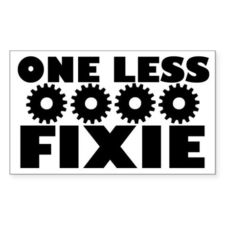 One Less Fixie Rectangle Decal By Wondershopzen