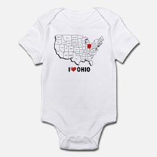 I Love Ohio Infant Bodysuit