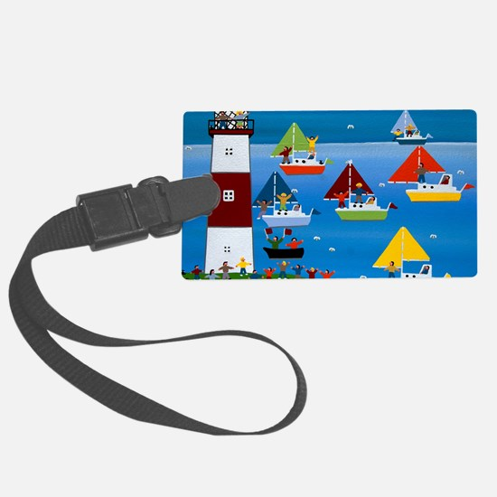 Boat race Luggage Tag