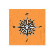 "compass-rose5-BUT Square Sticker 3"" x 3"""