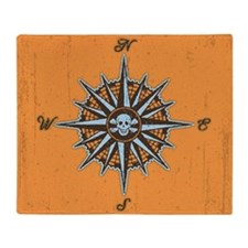 compass-rose5-BUT Throw Blanket