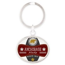 Anchorage Nature Marquis Oval Keychain