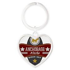 Anchorage Nature Marquis Heart Keychain